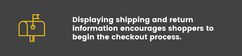 convert visitors into buyers shipping info