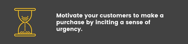 convert visitors into buyers urgency