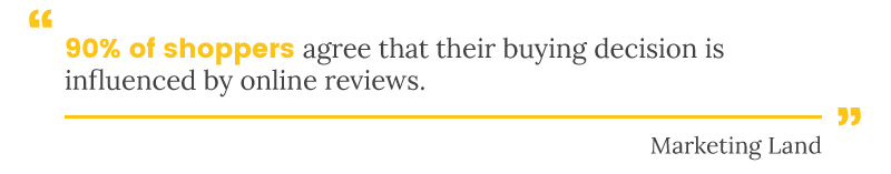 customer reviews for ecommerce marketing land quote
