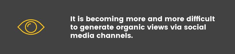 repeat business social media organic views