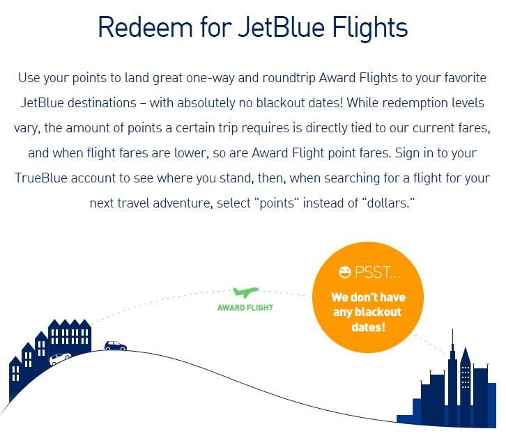 jetblue airline rewards redemption