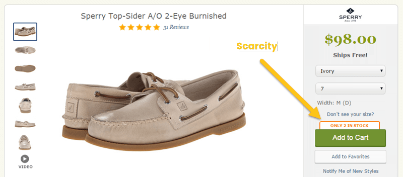 scarcity 2 in stock