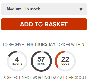 scarcity timer for shipping