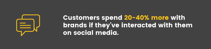 social media is ineffective customer retention