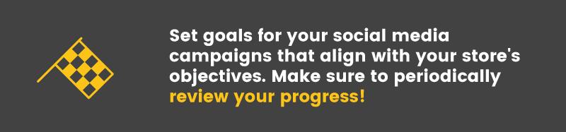 social media is ineffective set goals