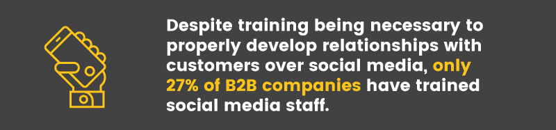 social media is ineffective trained staff