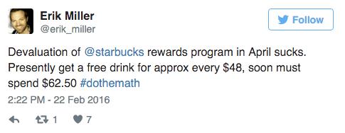 starbucks new loyalty program tweet 2