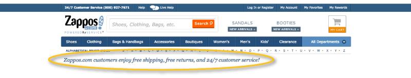 afraid of shopping online zappos website