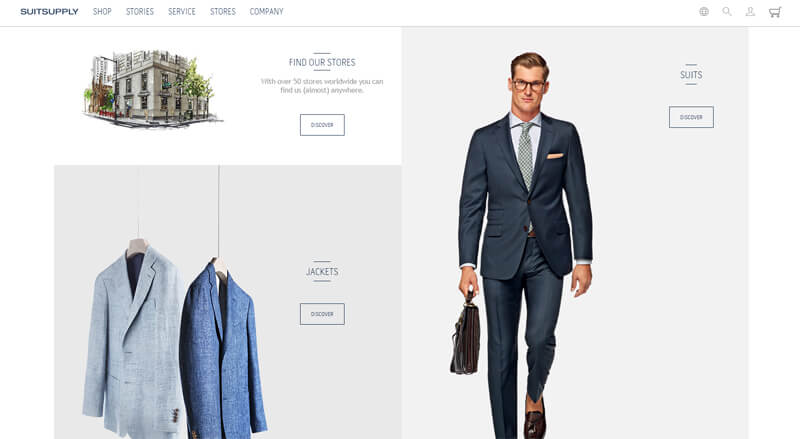 ecommerce homepage suit supply