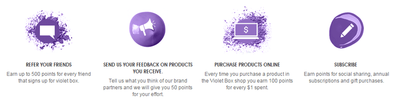subscription boxes violet box earn