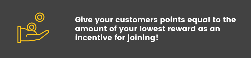 join your loyalty program points