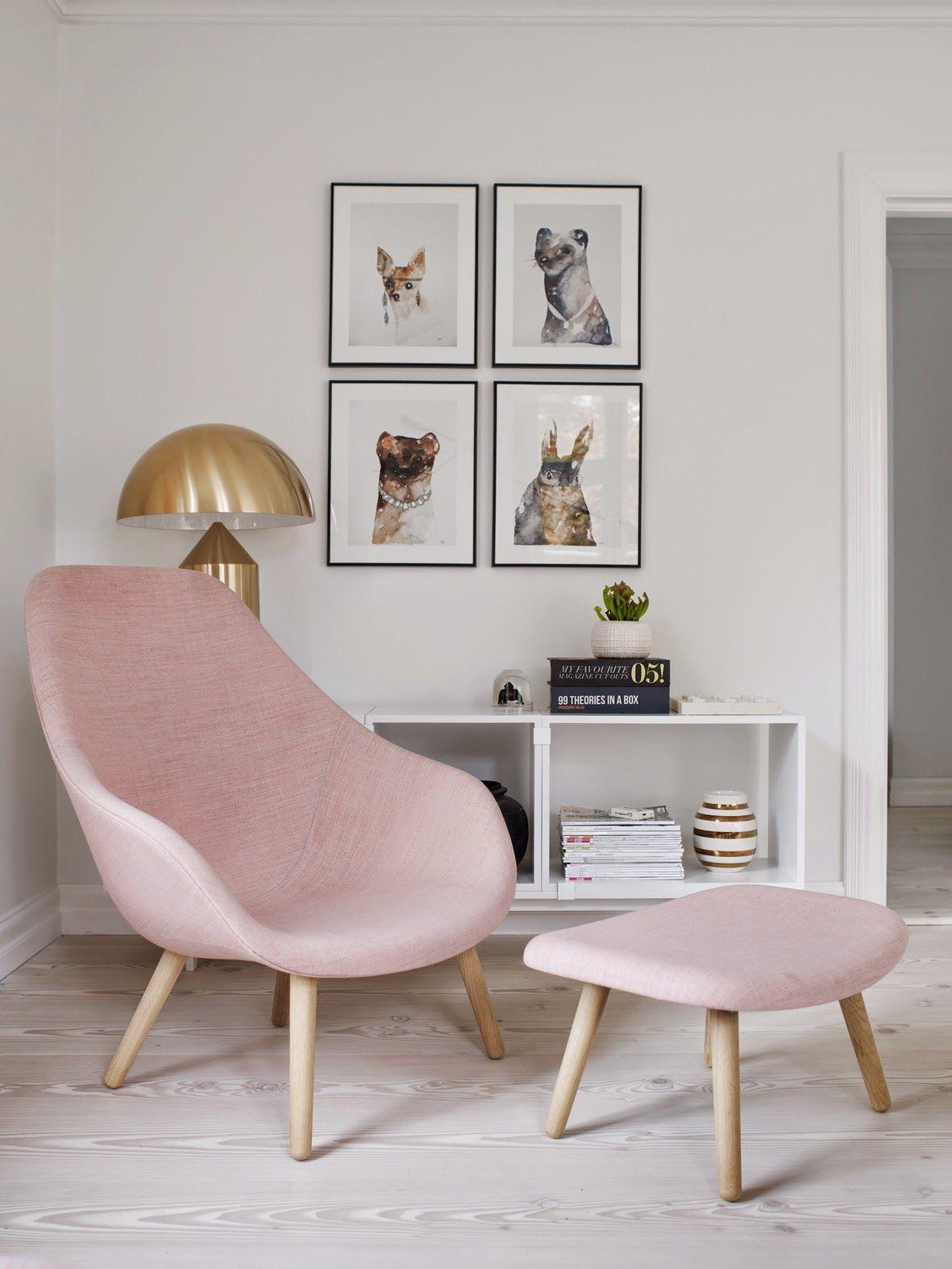 Blush color interior design trend