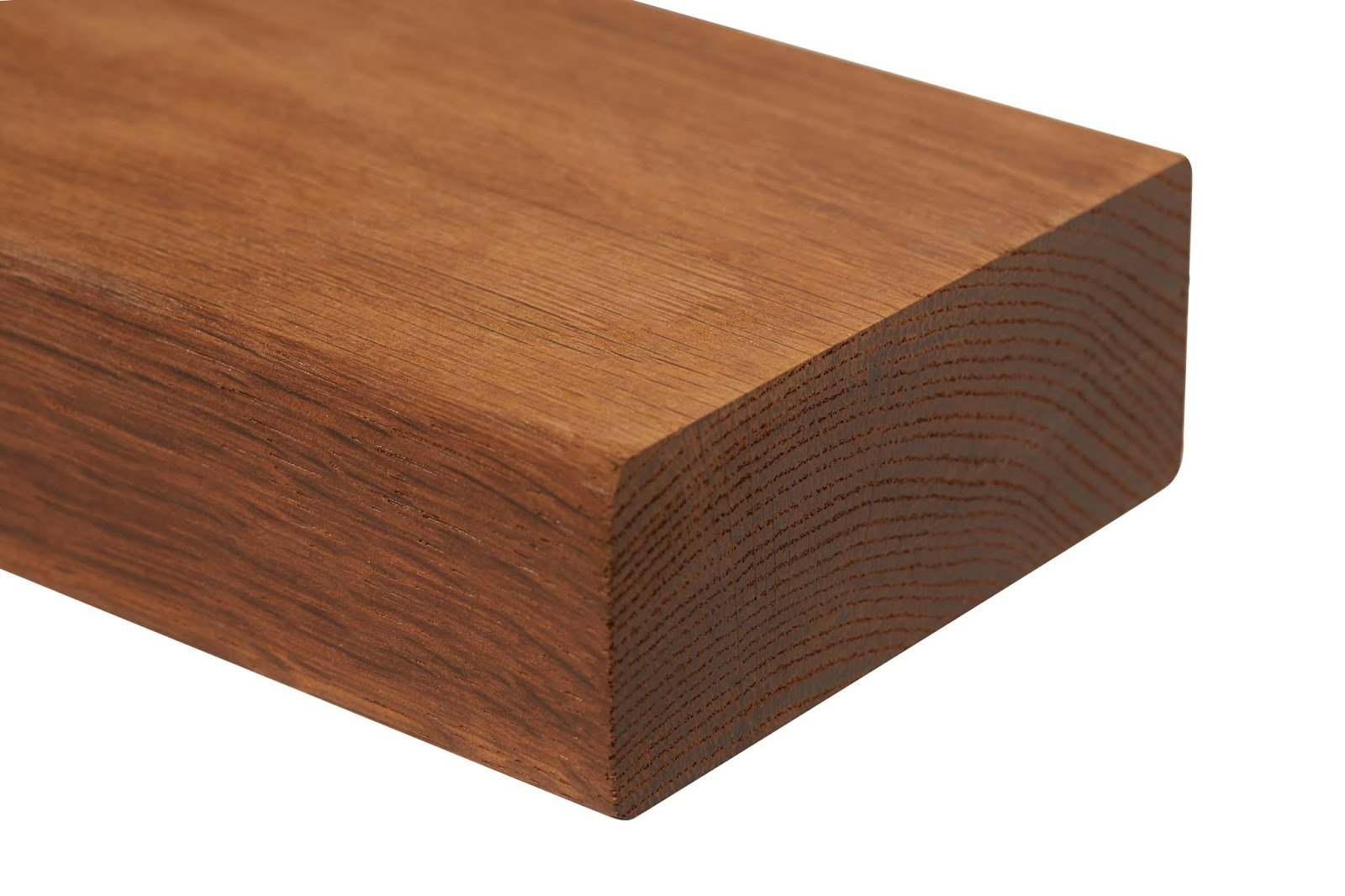 Single piece of thermally modified lumber
