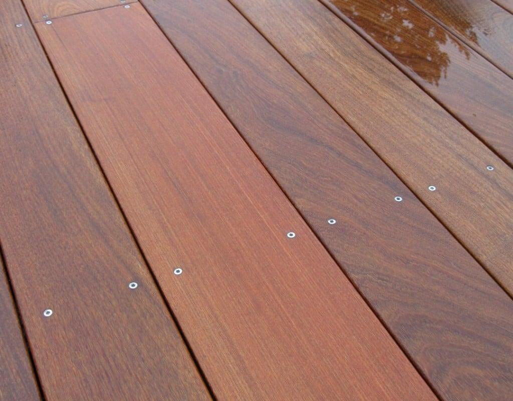 Red Ipe deck planks
