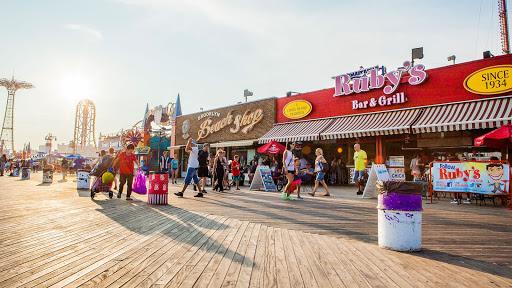 The Coney Island Boardwalk in New York City