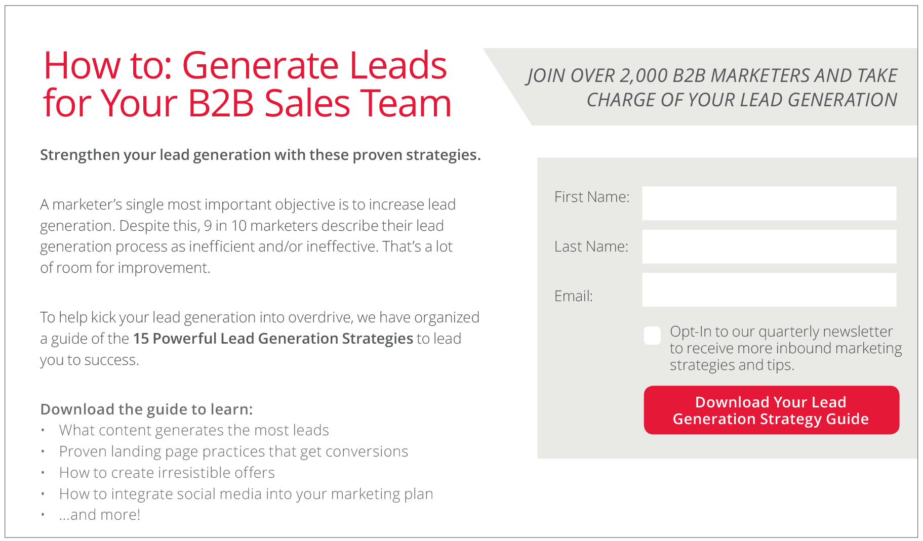 Advertise your success for more leads
