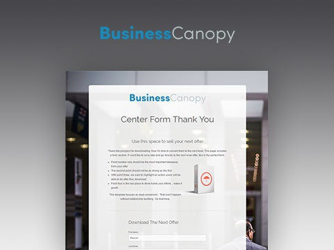 Business Canopy Thank You & Business Canopy Template Pack | HubSpot