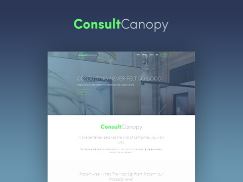 Consult Canopy Home (Theme Editor) & Consult Canopy Template Pack | HubSpot