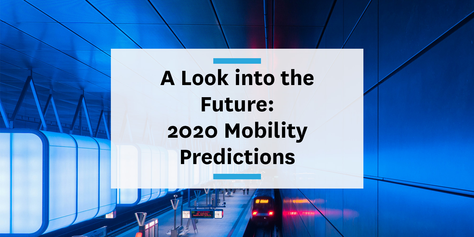 2020 Mobility Predictions blog micromobility transit and commuting trends