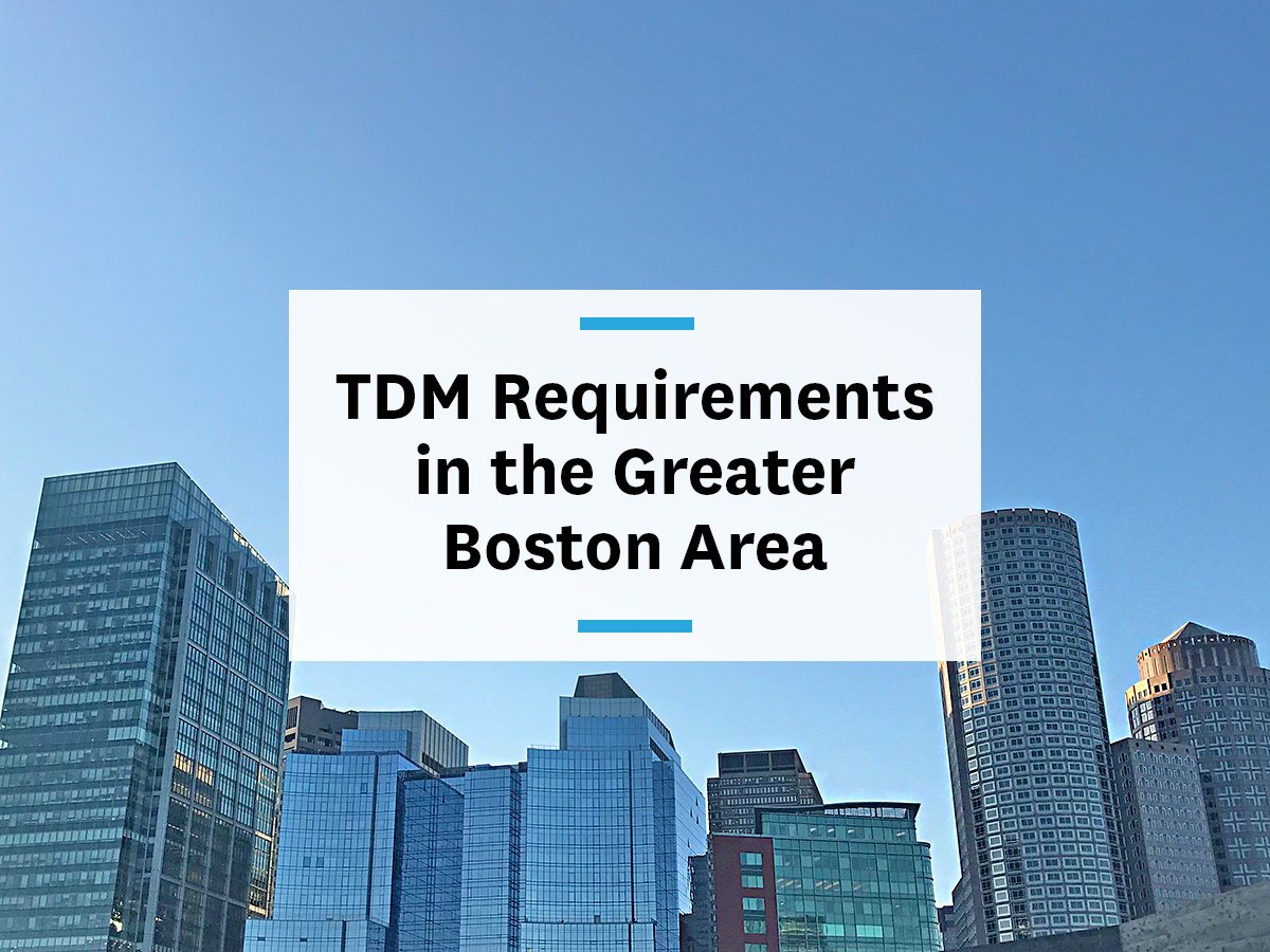 TDM requirements for developer and employers in Greater Boston
