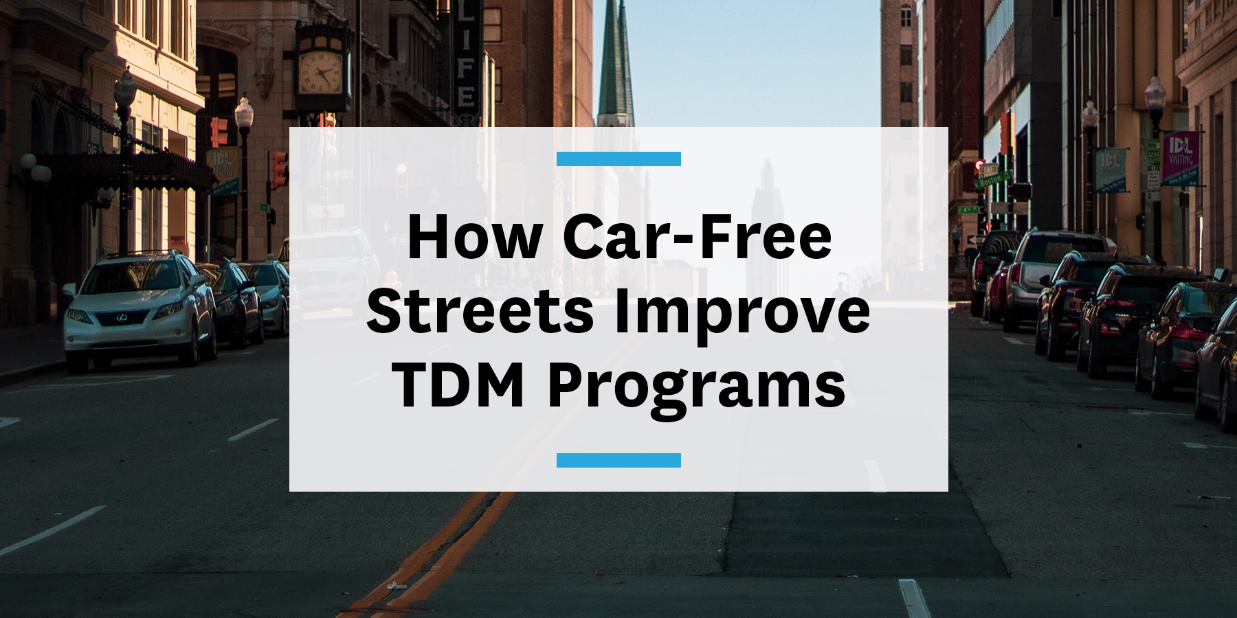 Car-free streets impact on TDM programs improving buses, walking, and biking conditions