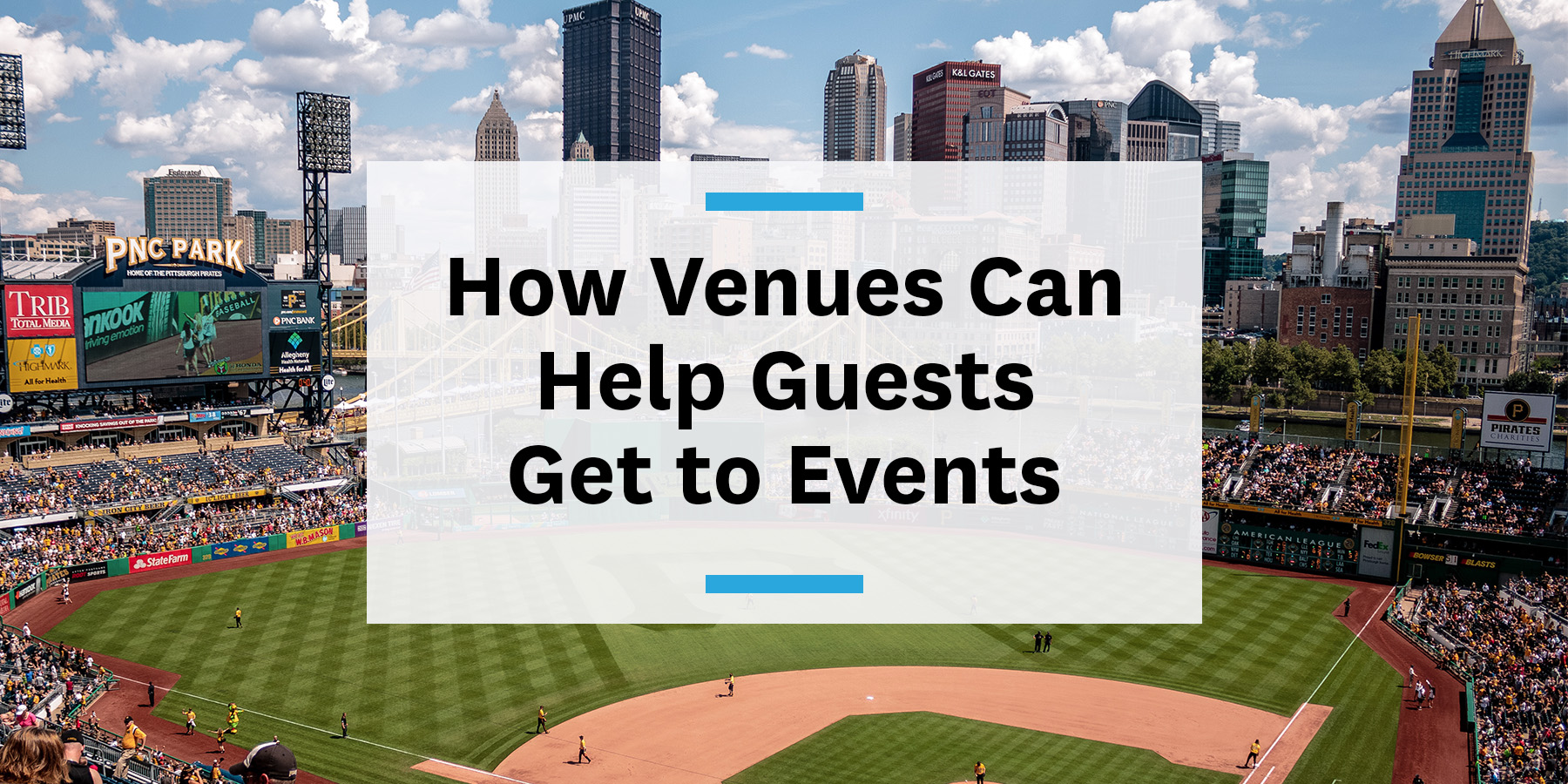 How venues can help guests and fans get to concerts games events on transit and micromobility