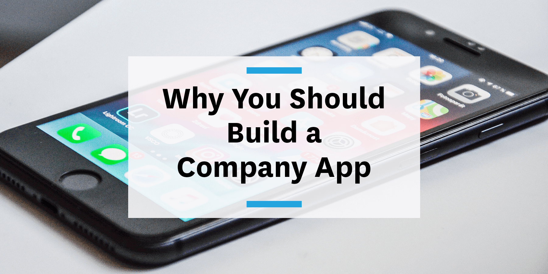 Why you should build a company app for post-covid return to work