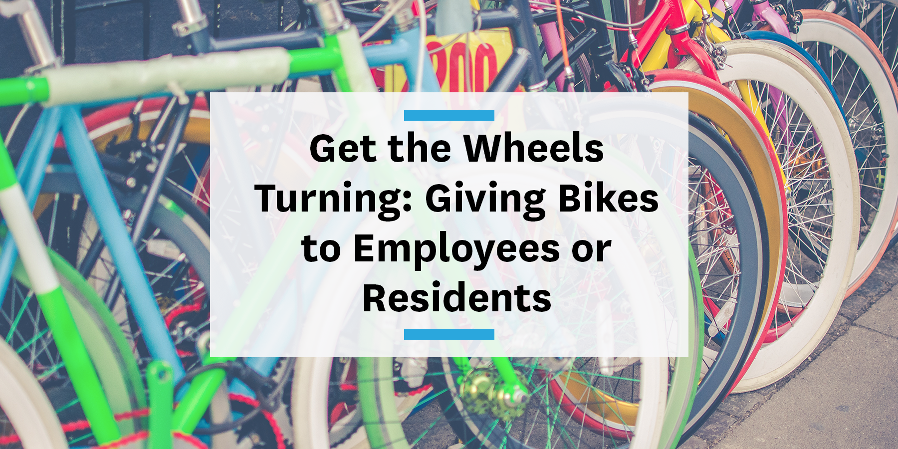 Giving bikes to employees or residents to bike to work and more sustainable commutes