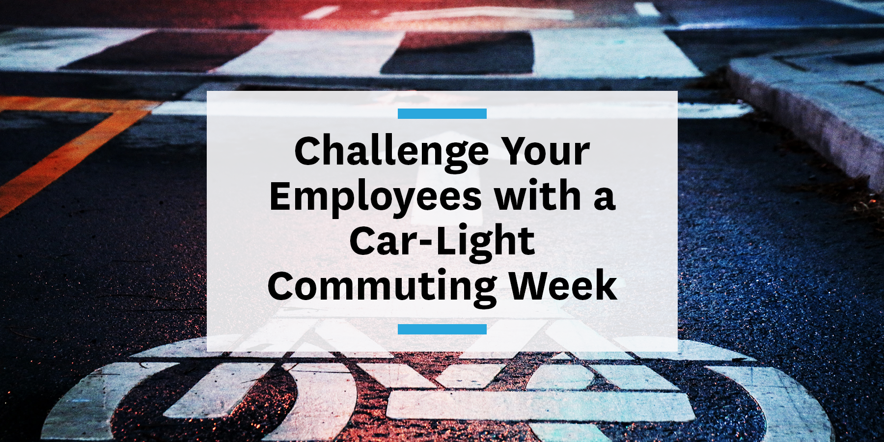 encouraging more sustainable commutes by hosting a car-light commuting week