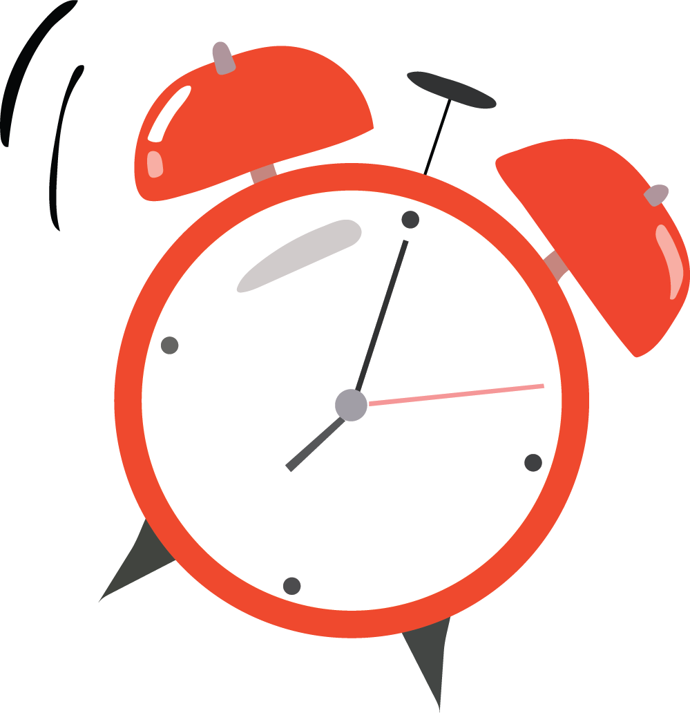 clock illustration for flexible work schedules