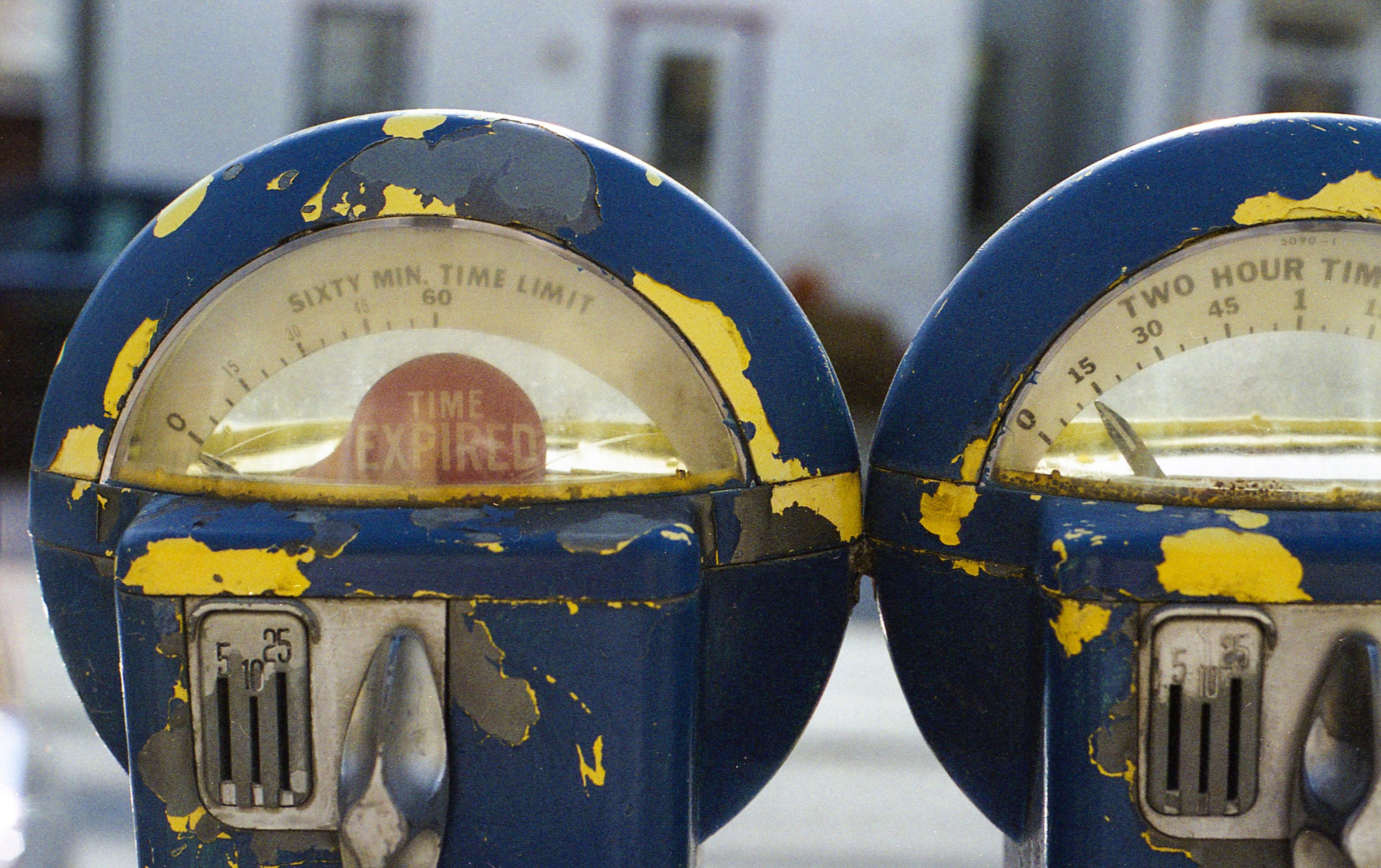 Parking meters representing tdm measures in Seattle