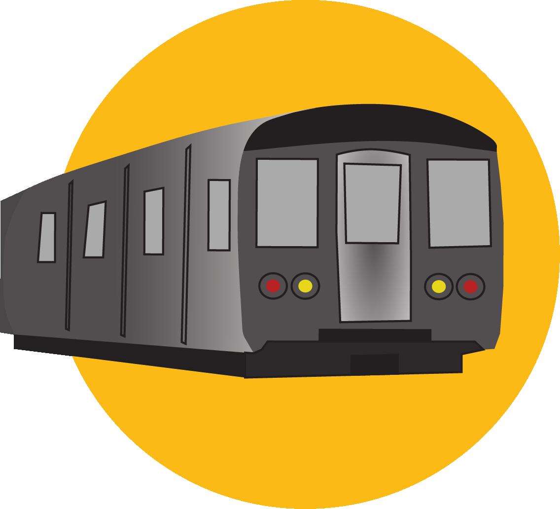 An illustration representing public transit in Seattle, WA