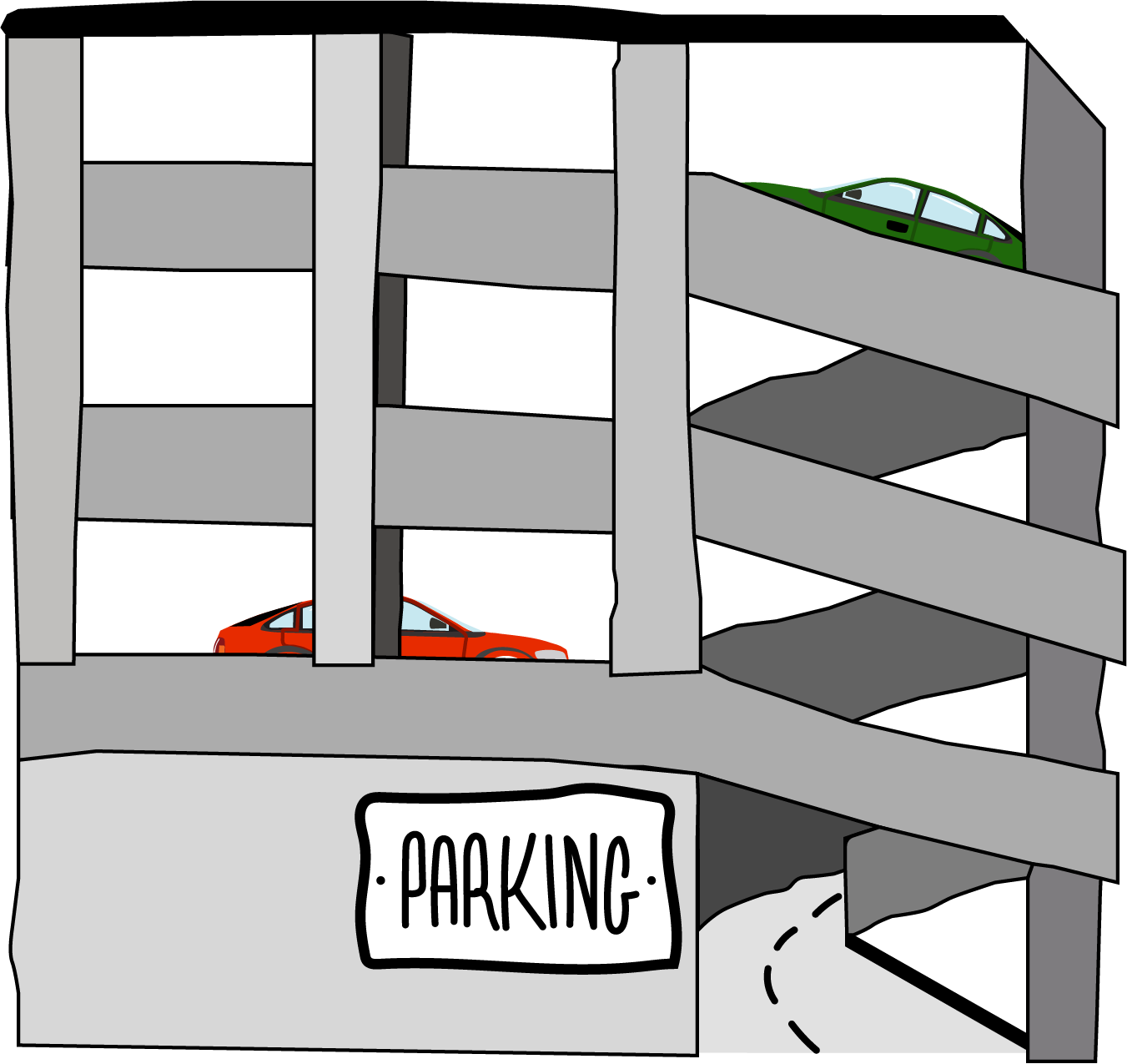 Illustration representing parking in Washington, D.C.