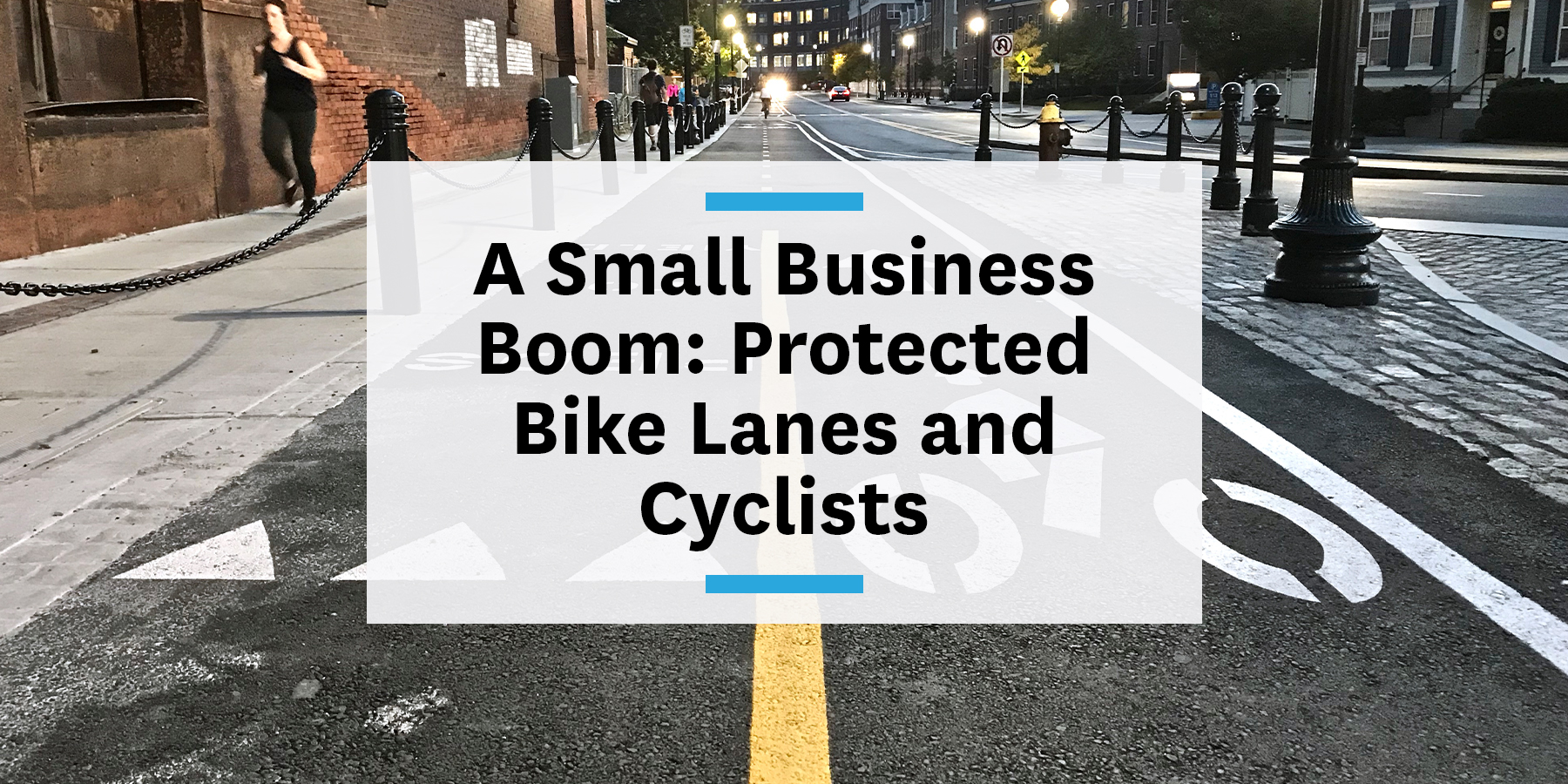 protected bike lanes helping small business