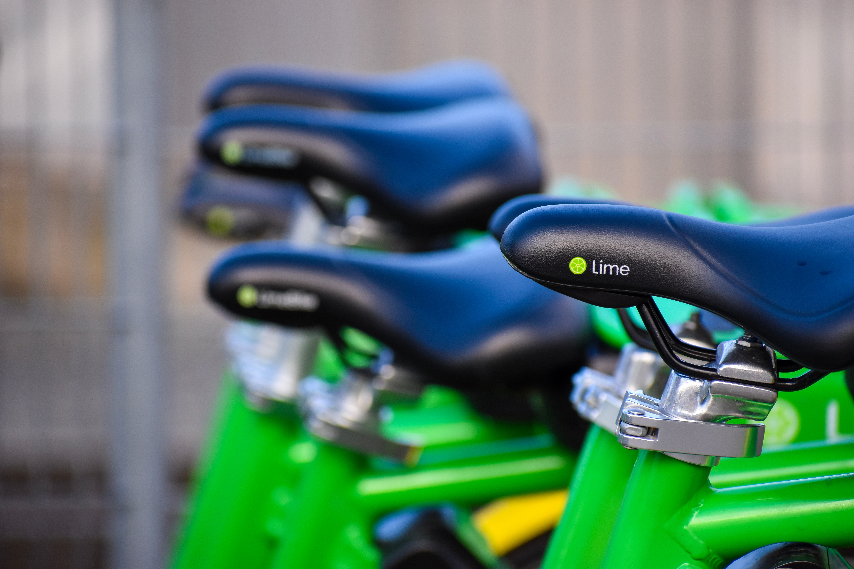 Lime bikesharing bikes in Seattle