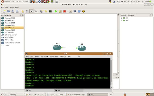 GNS3 on Ubuntu