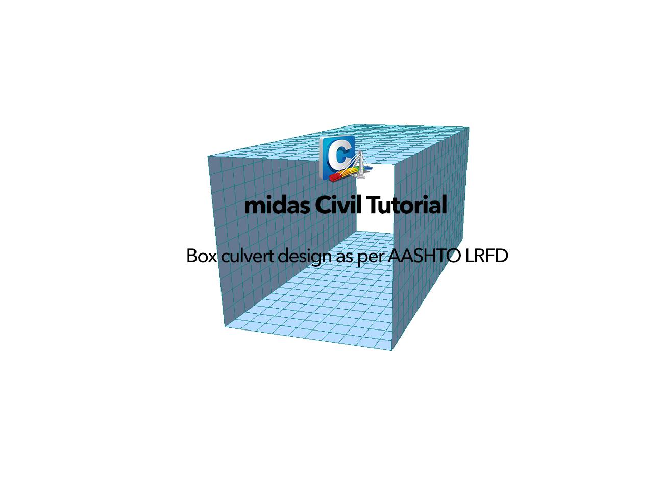 Box culvert design as per AASHTO LRFD