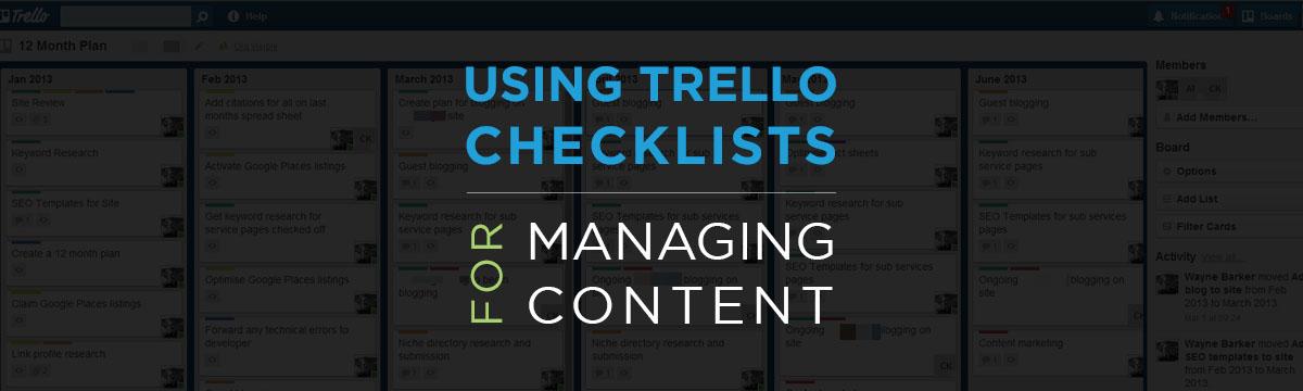 Using Trello for Content Management