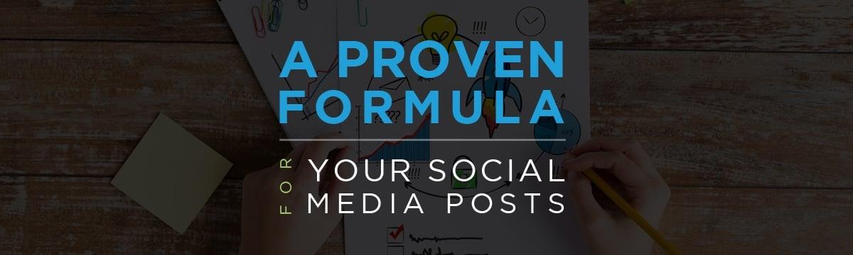 A proven formula for your social media posts