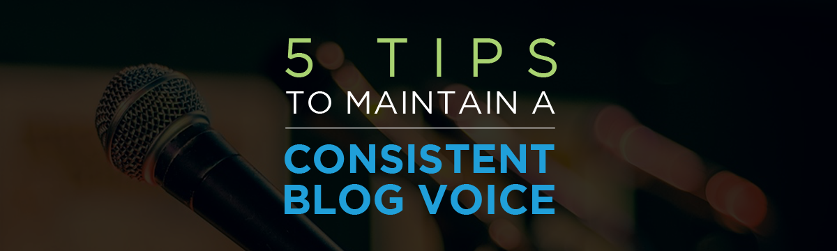 5 tips consistent blog voice sprk'd