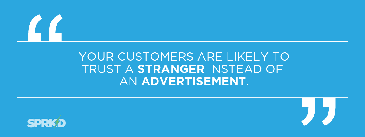 SEO campaign customers trust stranger over advertisement