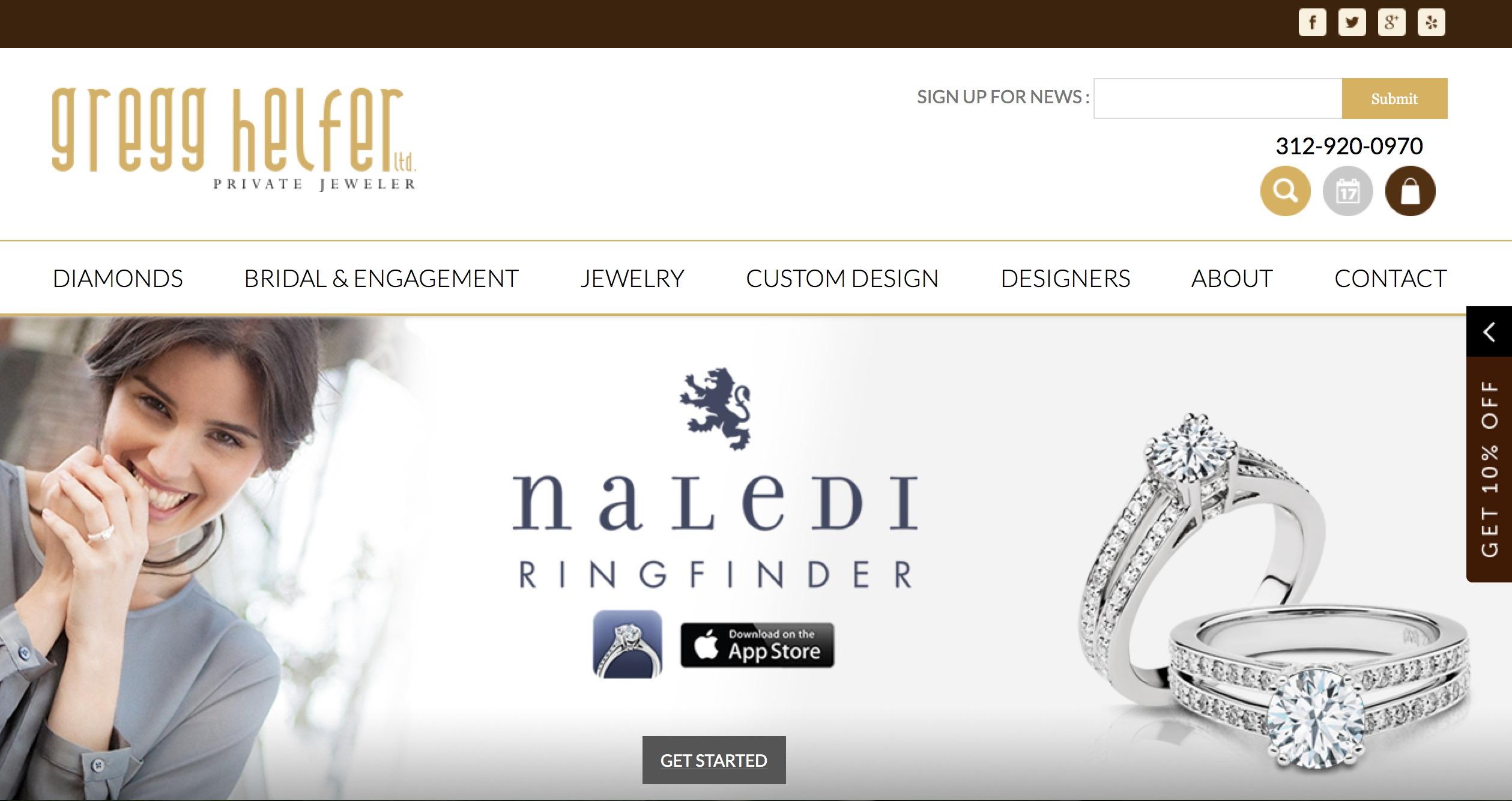 Gemfind Launches Website For Chicago Jeweler Gregg Helfer,Creative Vector Graphic Designer Visiting Card Design