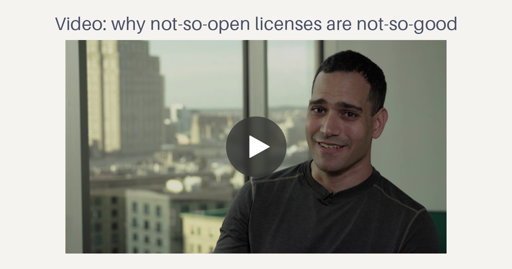 Video: why not-so-open licenses are not-so-good