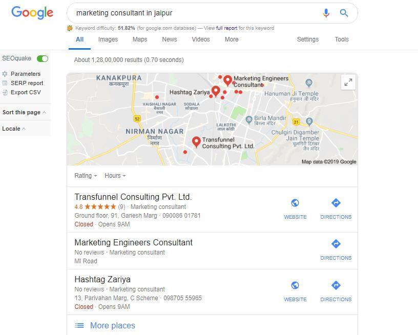 Optimise for Local Search