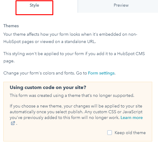 Create form in Hubspot: Step 10