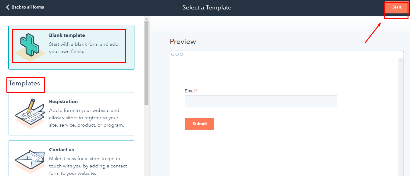 Create form in Hubspot: Step 3
