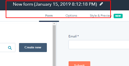 Create form in Hubspot: Step 4