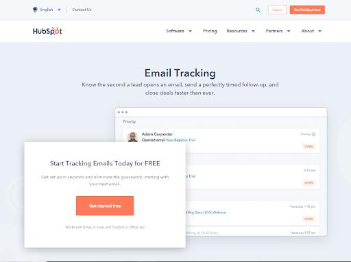 Start Tracking Emails Today for Free by HubSpot
