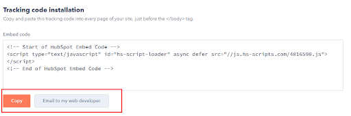 Step 3: Below the Embed code section, click Copy