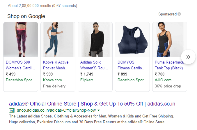 Paid AD Spots on a Google Result Page
